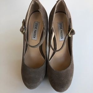 Steve Madden Suede Mary Jane Pumps